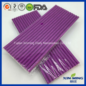 Wedding Party Supply Decoration Plain Purple Paper Straw pictures & photos