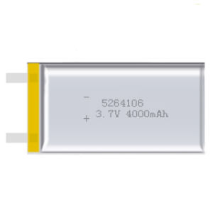 Li-Polymer Rechargeable Battery 3.7V 5264106 Lithium Polymer Battery 4000mAh (size: 5.2*64*106mm) pictures & photos