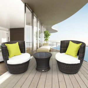 Patio Garden Balcony Chairs Round Rattan Relaxing Sofa Chair with Comfortable Cushion, Sofa Set for Sale Furniture pictures & photos