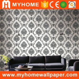 2017 Hot Sale Black and White Flower Wallpaper Wall Paper for Living Room pictures & photos