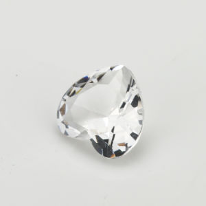 Synthetic Gems Glass Stones White Heart Shape DIY Jewellery Beads pictures & photos