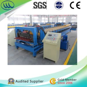 Newest Color Coated Steel Tile Roofing Roll Forming Machine pictures & photos