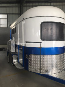 2 Horse Trailer Straight Load Hot Sale in Newzealand pictures & photos