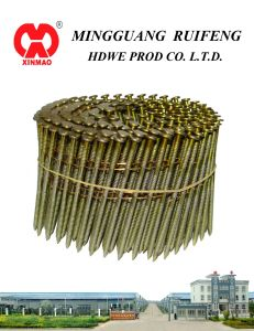 "Round Head, Flat Type, 2-1/2"" X. 113"", Ring Shank, Bright, 15 Degree Wire Collated Framming Nails, Coil Nails pictures & photos"