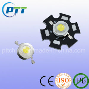 1W 3W Star High Power LED with Aluminium Plate, Power LED with Heat Sink Plate pictures & photos