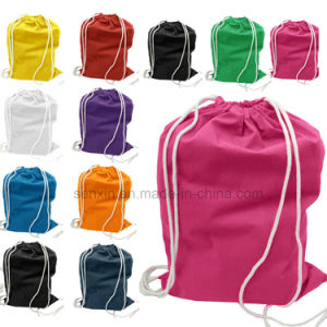 Cheap Cotton Drawstring Backpack Bag pictures & photos