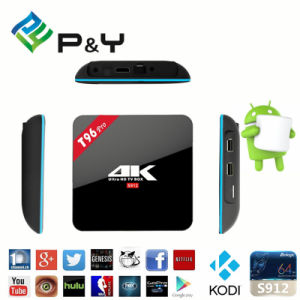 2016 Android TV Box T96 PRO 3G 16g Android 6.0 Marshmallow TV Box Amlogic S912 Kodi Fully Loaded Stream Media Player pictures & photos