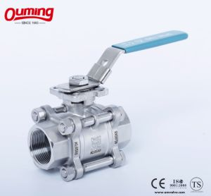 3PC Ball Valve with High Mounting pictures & photos
