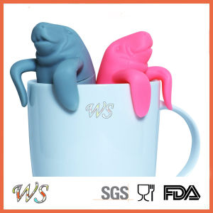 Ws-If052 Manatee Tea Infuser Set Silicone Tea Filter Leaf Strainer Food Grade pictures & photos