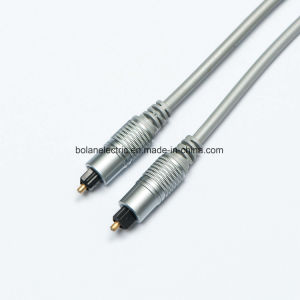 Double Color Metal Connector Optical Fiber Audio Cable pictures & photos