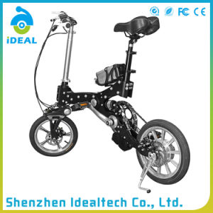 Black 250W 50km Endurance Folding Electric Bicycle pictures & photos