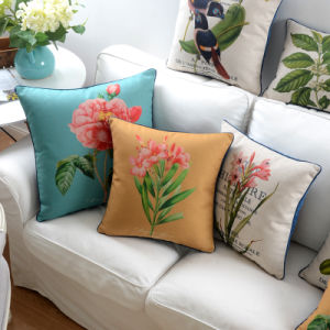 Affordable Cotton Linen Throw Pillows Decorative for Couch pictures & photos