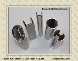 304 Glass Handrail Square Slotted Stainless Steel Tube pictures & photos