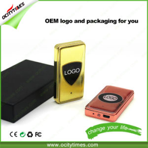 Ocitytimes Wholesale Gold Metal Windproof Electronic Cigarette USB Lighter pictures & photos