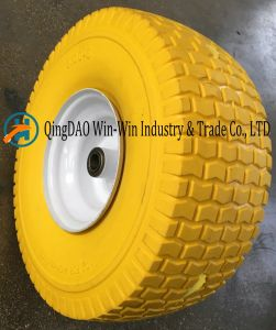 Flat-Free PU Foam Wheel with Colorful PU Part (6.00-6) pictures & photos