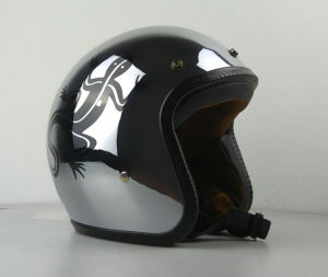 Silver Plating Open-Face Helmet for Motorcycle. pictures & photos