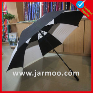 Black and White Windproof Fashion Golf Umbrella pictures & photos