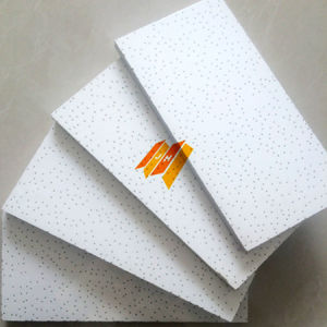Cloth Surface Acoustic Mineral Fiber Tiles (SGS, Fire-resistant Class B) pictures & photos