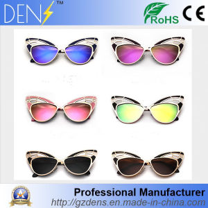 Fashion Women Sunglasses Cat Eye Butterfly Alloy Frame Sunglasses pictures & photos