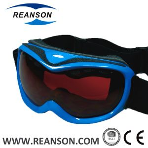 Reanson Professional Anti-Fog Double Lenses Snow Mobile Goggles pictures & photos