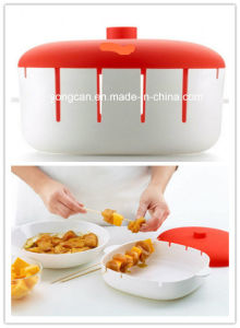 Food Grade Plastic Silicone Microwave Brochette Container pictures & photos