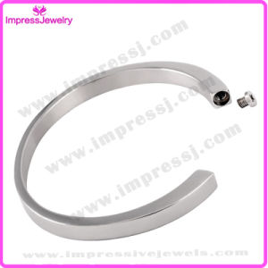 Shiny Stainless Steel Funeral Urn Memorial Bracelet Cremation Bangle pictures & photos