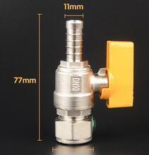 Single Silk Straight Type Brass Gas Valves pictures & photos