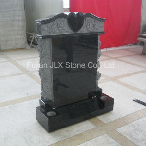 Black Granite Temple Tombstone with Roses Carvings pictures & photos