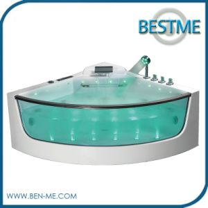 Freestanding Cheap Whirlpool Massage Acrylic Jacuzzi Bath Tub for 2 Persons Bathtub pictures & photos