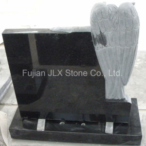 Shanxi Black Granite Angel with Book Tombstone pictures & photos