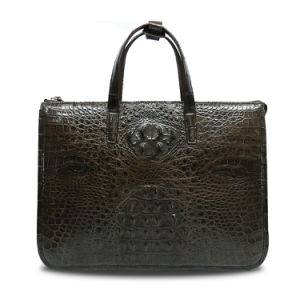Men Business Briefcase Genuine Crocodile Cowhide Laptop Briefcase pictures & photos