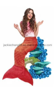 Foil Print Christmas Mermaid Blankets pictures & photos