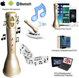 2017 New Bluetooth Speaker Microphone Portable Karaoke Player pictures & photos