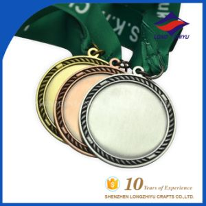 Wholesale Round Metal Blank Gold Silver Copper Medal with Ribbon pictures & photos