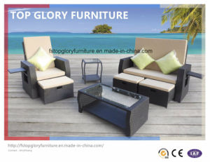 Outdoor Rattan Sectional Sofa Set with Water Resistant Cushion (TG-070) pictures & photos
