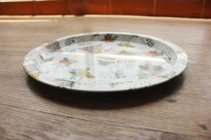 Round Food Metal Tin Tray pictures & photos
