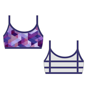 Sublimation Womens Running Gym Sports Bras pictures & photos