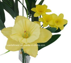 Artificial/Plastic/Silk Flower Single Stem of Daffodil (XF30025) pictures & photos