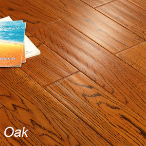 Oak Flooring Hardwood Floor with Handscraped Wood Flooring pictures & photos