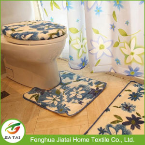 Cheap Floral Polyester Fabric Bathroom Shower Curtain Sets pictures & photos