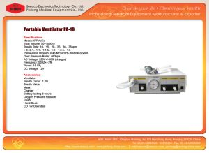 Ce/ISO Approval Portable Ventilator PA-10 pictures & photos