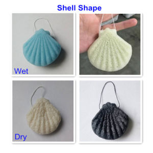 Baby Cleansing Sponge 100% Natural Konjac Shell Shape pictures & photos