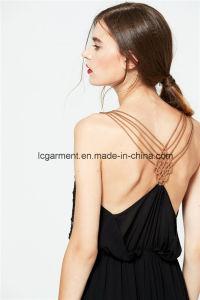 Wholesale Woman Dress Spaghetti Strap Maxi Chiffon Backless Sexy Dress pictures & photos