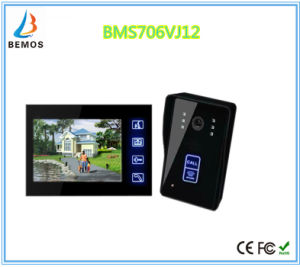 Touch Screen 7 Inches Home Security Interphone Video Door Phone Doorbell with Camera pictures & photos