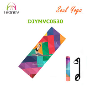 Non-Slip Microfiber Yoga Mat with Custom Logo and Design Printed 3.5mm pictures & photos