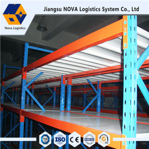 Q235B Steel Long Span Shelving Rack with Steel Panel pictures & photos