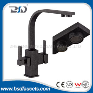 Dual Handle Metal Black Surface Three Drinking Water Faucet pictures & photos