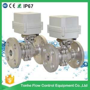 "1/2"" 2 Way Ss304 Ball Flange Type Connection Electric Motorized Ball Valve pictures & photos"