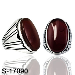 New Model Silver Jewelry Ring with Red Agate Factory Wholesale pictures & photos