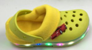 EVA Warm Kids Children LED Light Clogs with Fur for Winter pictures & photos